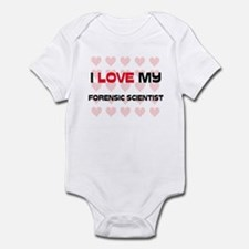 I Love My Forensic Scientist Infant Bodysuit