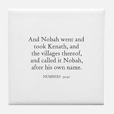 NUMBERS  32:42 Tile Coaster