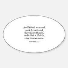 NUMBERS 32:42 Oval Decal