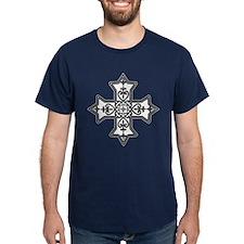 Black and White Coptic Cross T-Shirt