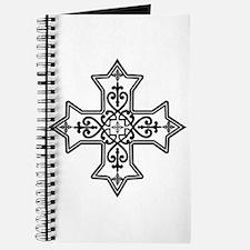 Black and White Coptic Cross Journal