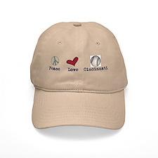 oddFrogg Peace Love Cincinnati Baseball Cap