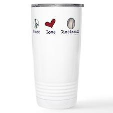 oddFrogg Peace Love Cincinnati Travel Mug