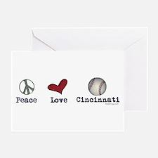oddFrogg Peace Love Cincinnati Greeting Card
