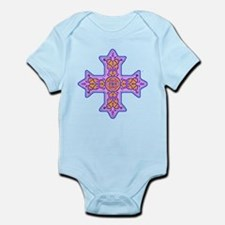 Violet Coptic Cross Infant Bodysuit
