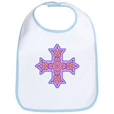 Violet Coptic Cross Bib