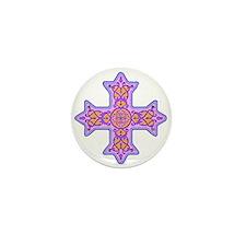 Violet Coptic Cross Mini Button (10 pack)