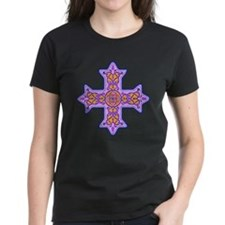 Violet Coptic Cross Tee