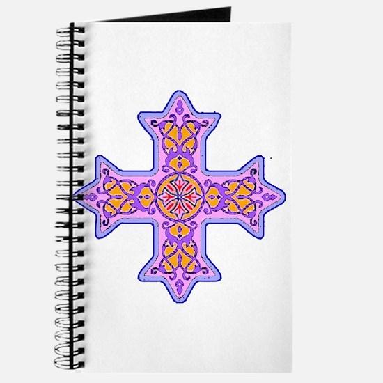Violet Coptic Cross Journal