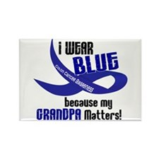 I Wear Blue For My Grandpa 33 CC Rectangle Magnet