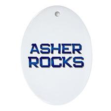 asher rocks Oval Ornament