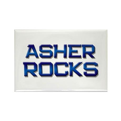 asher rocks Rectangle Magnet