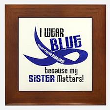 I Wear Blue For My Sister 33 CC Framed Tile