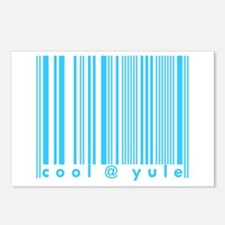 Cool @ Yule Blue Barcode Postcards (Package of 8)