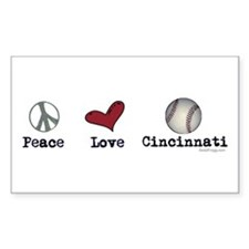 oddFrogg Peace Love Cincinnati Bumper Decal