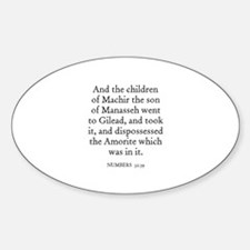 NUMBERS 32:39 Oval Decal