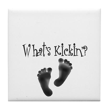What's Kickin'? Design 2 Tile Coaster