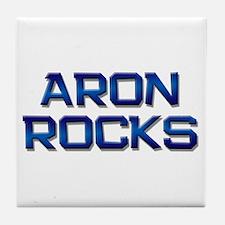 aron rocks Tile Coaster