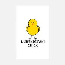 Uzbekistani Chick Rectangle Decal