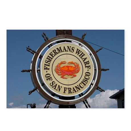 fishermans wharf Postcards (Package of 8)