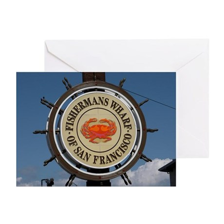 fishermans wharf Greeting Cards (Pk of 20)