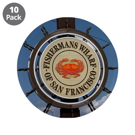 "fishermans wharf 3.5"" Button (10 pack)"
