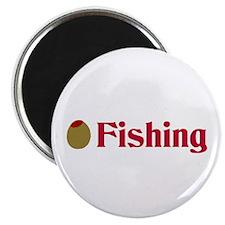 "Olive (I Love) Fishing 2.25"" Magnet (10 pack)"