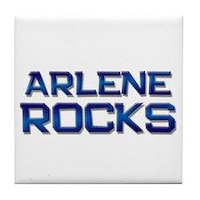 arlene rocks Tile Coaster