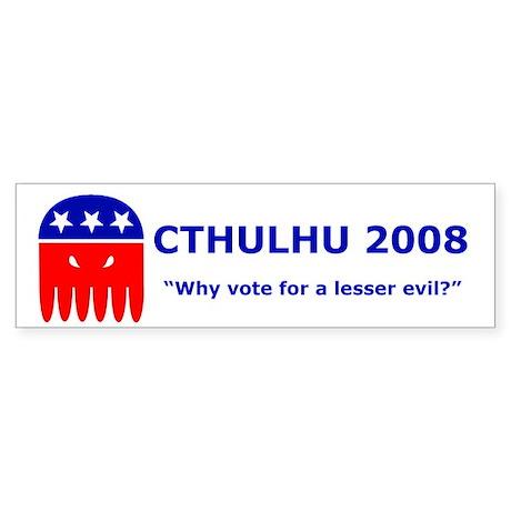 Vote Cthulhu 2008! Bumper Sticker