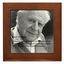 Philosophy Karl Popper Framed Tile