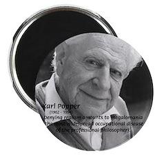 """Philosophy Karl Popper 2.25"""" Magnet (10 pack)"""
