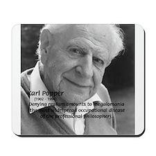 Philosophy Karl Popper Mousepad