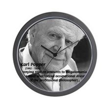 Philosophy Karl Popper Wall Clock