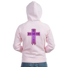 Pink and Purple Cross Zip Hoodie