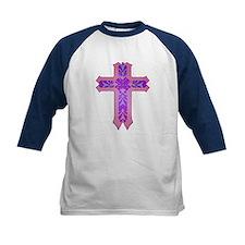 Pink and Purple Cross Tee
