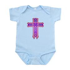 Pink and Purple Cross Infant Bodysuit