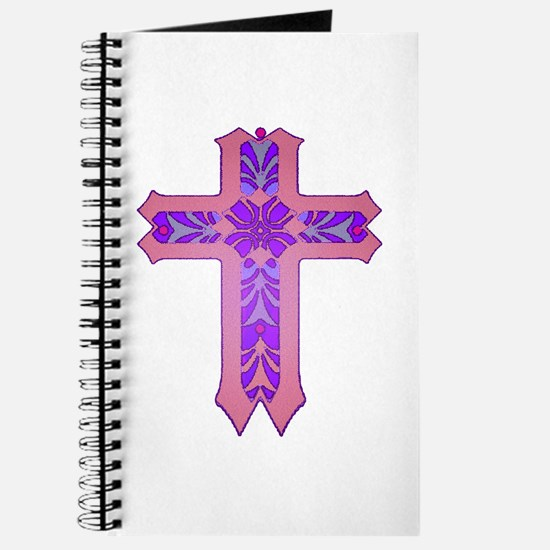 Pink and Purple Cross Journal