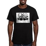 Drum Sketch Men's Fitted T-Shirt (dark)