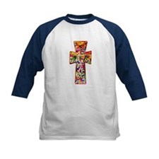 Pretty Stained Glass Look Cross Tee