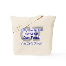 Blue CF Cure Found Tote Bag