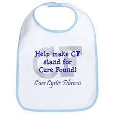 Blue CF Cure Found Bib