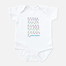 Manual Alphbet Infant Bodysuit