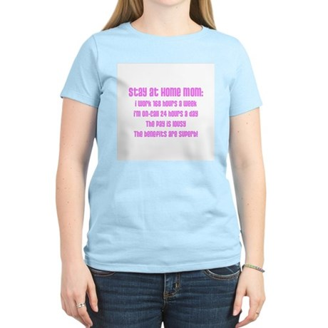 Stay at Home Mom Pink Print Women's Pink T-Shirt