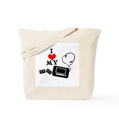 I Heart (Love) My Walkman Tote Bag