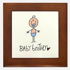 Baby Brother Framed Tile