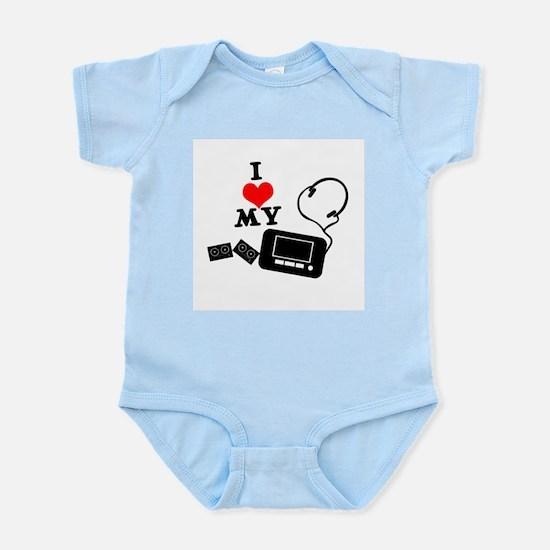 I Heart (Love) My Walkman Infant Creeper