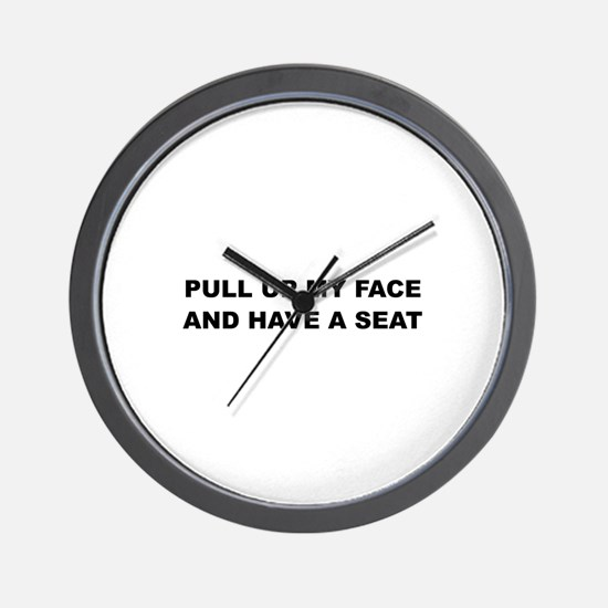 Pull up my Face Wall Clock