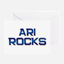 ari rocks Greeting Card