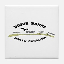 Bogue Banks NC Tile Coaster