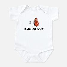 I <3 Accuracy Infant Bodysuit